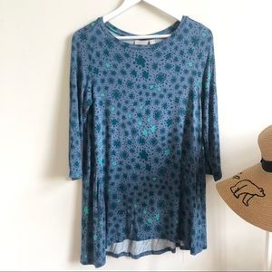 LOGO by Lori Goldstein patterned tunic top